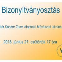 Bizonyítványosztás 2018. június 21