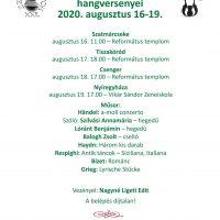 Szatmari Zenei Napok 2020 plakat