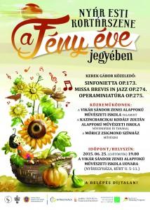 A rendezvény plakátja