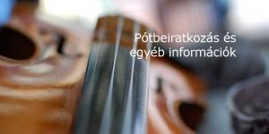 Pótbeiratkozás a Vikár Sándor Zeneiskolában a 2012/13-as tanévre